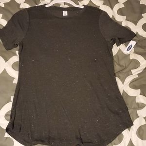 Adorable silver shimmer Old Navy Tee